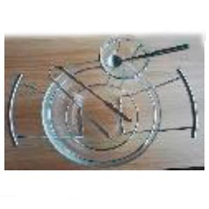 Ensaladera y tazón para aderezos de cristal con pinzas y cuchara de metal de 31.5x26x15 cm