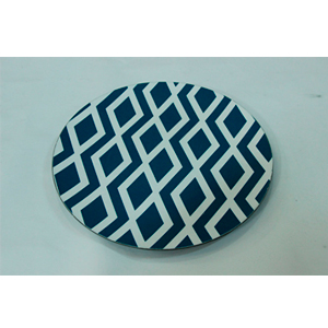 Plato presentación diseño rombos azules de 33x33x2cm