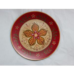 Plato presentación diseño nochebuena roja de 33x33x2cm