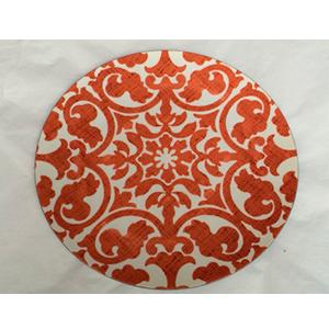 Plato presentación diseño grecas rojas de 33x33x2cm