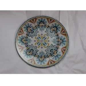 Plato presentación diseño flores azules de 33x33x2cm