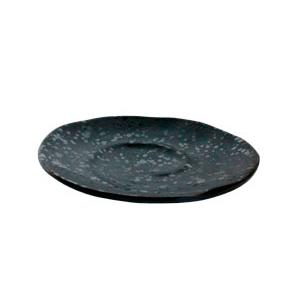 Plato de melamina negro de 20.5x3.3cm