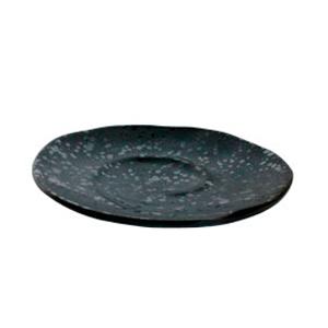 Plato de melamina negro de 25.5x4.2cm