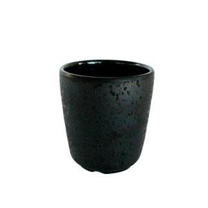 Vaso de melamina negro de 7x8.5cm