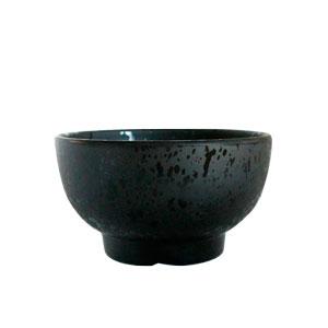 Tazón de melamina negro de 15x8cm