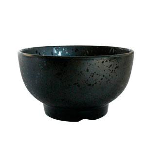 Tazón de melamina negro de 20x11cm