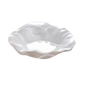 Plato de melamina blanco diseño ondulado de 31x5cm