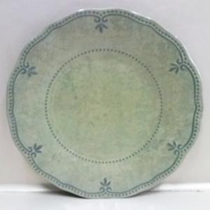 Plato de melamina verde con diseño de 22cm