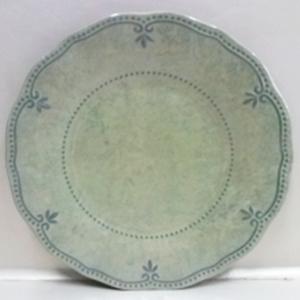 Plato de melamina verde con diseño de 27cm