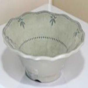 Bowl de melamina verde con diseño de 21cm
