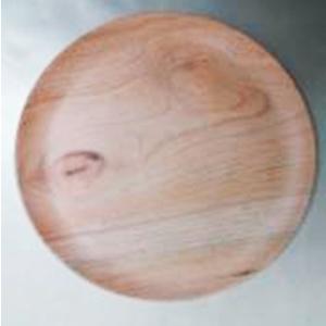 Plato de melamina diseño madera de 23cm
