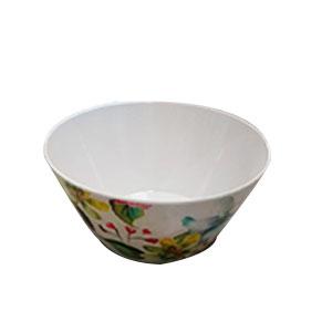 Bowl de melamina con estampado de flores de 15cm