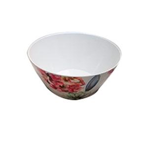Bowl de melamina con estampado de flores azules de 26cm