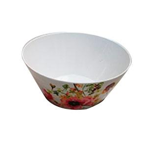 Bowl de melamina con estampado de flores rojas de 26cm