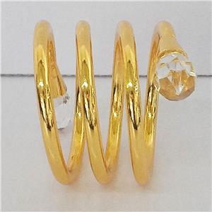 Juego de 4 servilleteros diseño espiral con puntas de diamantes