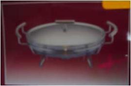Refractario para buffet con base para mantener los alimentos calientes