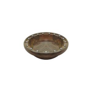 Bowl de madera con estoperoles de 17x20x5cm