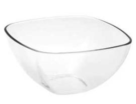 Tazon ensaladero individual de acrilico de 14x14x7.9cm