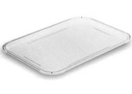 Charola de rectangular de acrílico transparente de 41.5x31cm