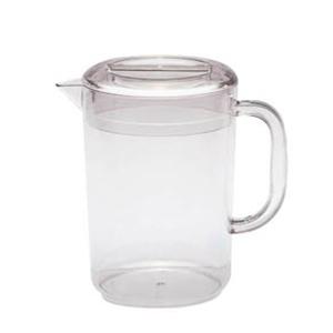 Jarra transparente de policarbonato con tapa de 1800 ml y 13.5x19.5 cm