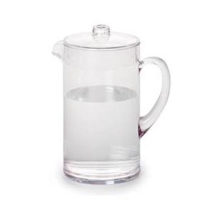 Jarra transparente de policarbonato con tapa de 2290 ml y 12.5x22 cm