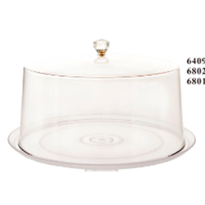 Tapa de acrilico transparente redondo de 30x18cm