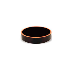 Bowl de melamina redondo negro con café de 8x3cm