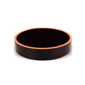 Bowl de melamina redondo negro con café de 12x3cm
