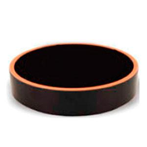 Bowl de melamina redondo negro con café de 15x4cm