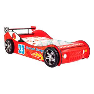 Cama para niño diseño auto rojo con luz en los faros 219.5x109.4x69cm