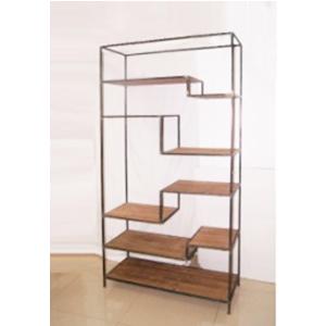 Mueble rectangular moderno con entrepaños de madera de 101x39x200cm