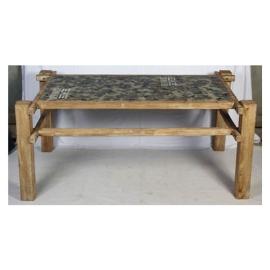 4c55a7f42d49f Mesa de madera estilo militar de 180x100x75cm