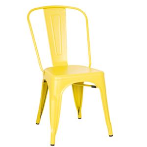 Silla de aluminio en color amarilla de 44.5x52x85.5cm