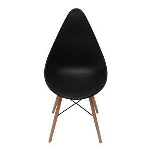 Silla estilo moderno negra imitación patas de madera de 58x46x87.8x45.5cm