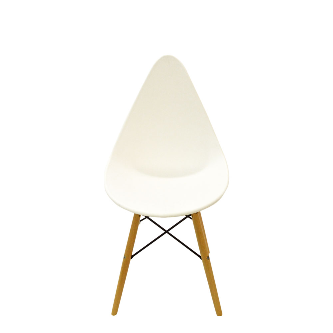 Silla estilo moderno blanca imitación patas de madera de 58x46x87.8x45.5cm