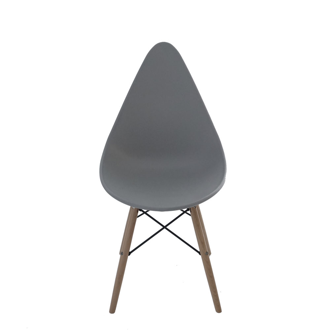 Silla estilo moderno gris imitación patas de madera de 58x46x87.8x45.5cm