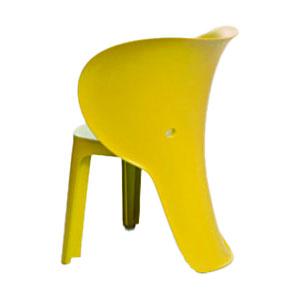 Silla infantil de plastico amarilla de 47x55x32.5cm