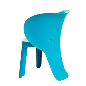 Silla infantil de plastico azul de 47x55x32.5cm