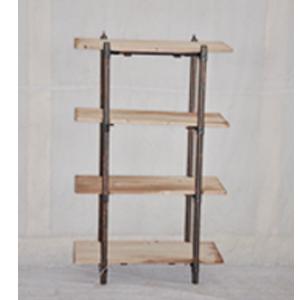 Mueble de metal diseño industrial con repisas de madera de 70x26.5x104cm