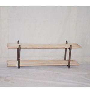 Mueble de metal diseño industrial con madera de 120x26.5x46cm