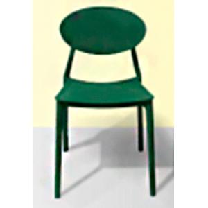 Silla de plastico negra con asiento color verde de 46.5x42x82x45cm