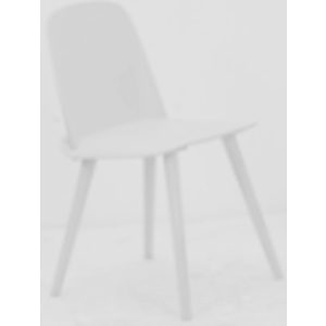 Silla de plastico con patas de metal blanca de 50.5x45.5x80x45cm