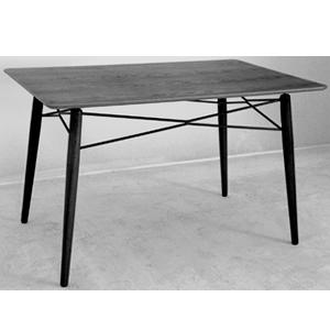 Mesa de plástico rectangular negra de 125x7.5x85cm