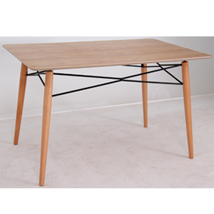 Mesa de plástico rectangular diseño madera natural de 125x7.5x85cm