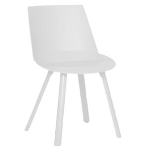 Silla moderna de plástico blanca de 57x50x80cm