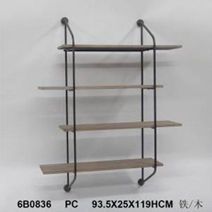 Mueble para empotrar a pared diseño rustico con 4 entrepaños de 93x25x119cm