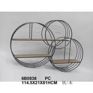 Mueble de metal moderno diseño círculos con entrepaños de 114x21x81cm