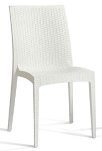 Silla de  plástico color blanco de 47.5x49x88.5x45.5cm