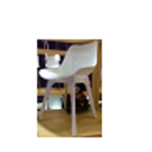 Silla de plástico calada blanca de 55x46x82cm