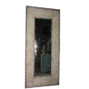 Marco de madera rectangular con espejo de 118.5�?12�?235cm